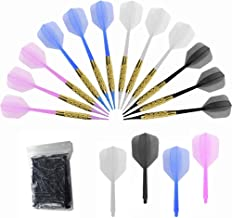 Bar Darts - Plastic Tip Darts Set - 12 Pcs 16 Grams Soft Tip Dart for Electronic Dart Board - Plastic Darts Shafts and Flights, 60 Extra Safety Tips