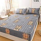 HAIBA Colchón de protección contra ácaros para girar, colchón | protector de colchón | cama con somier, 180 x 200 +30 cm (3 piezas)