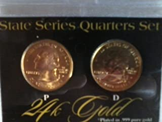 state series quarters set 24k gold