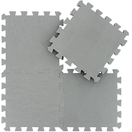 qqpp 18 Puzzle Bodenschutzmatte - Schutzmatte Set Puzzlematte Bodenschutz rutschfest Matte | Fitnessmatte Turnmatte Sportmatte Trainingsmatte Yogamatte | Spielteppich Baby | Sport Fitness. QQC-Lb18N