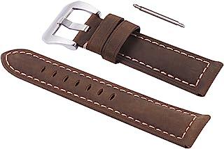 1Pc 22mm pulseira de relógio de couro genuíno pulseira de relógio retro de substituição pulseira de relógio de pulso unive...