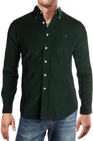 Polo Ralph Lauren - Camiseta de pana para hombre - Verde ...
