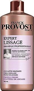 Franck Provost Shampoo Professionale Expert Lissage, Latte Idratante per Capelli Crespi, 750ml