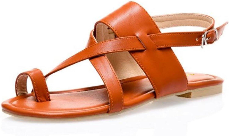 Women Flat Sandals Clip Toe Sandals shoes Woman Lady Real Leather shoes Brand Flip Flops Beach shoes
