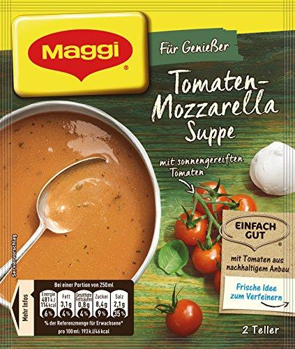 Maggi Für Genießer Tomaten-Mozzarella Suppe, ergibt 2 Teller, 1er Pack (1 X 59g)