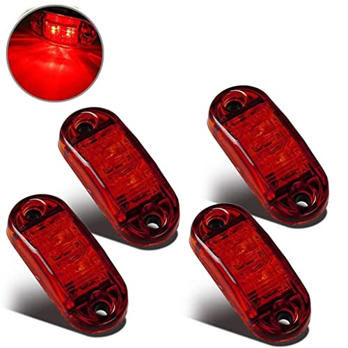 2 x RED WHITE RUBBER SIDE END MARKER LIGHT IFOR WILLIAMS INDESPENSION TRAILERS