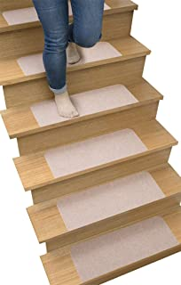 サンコー ずれない 階段マット 45×22cm 洗える おくだけ吸着 ベージュ 14枚入 SG-53