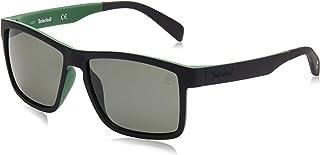 نظارات شمسية للرجال من تيمبرلاند TB908198R56 - اخضر داكن - مصنوعة من مادة محقونة