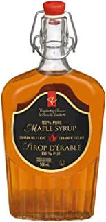 Glass President's Choice 100% Pure Syrup, Maple, 16.91 Ounce