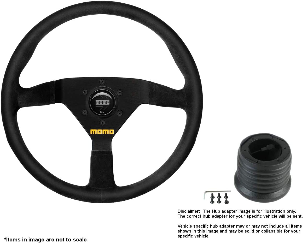 MOMO MOD.78 320mm 12.6 Max 55% OFF Inches Suede B Super popular specialty store Brushed Steering Wheel w