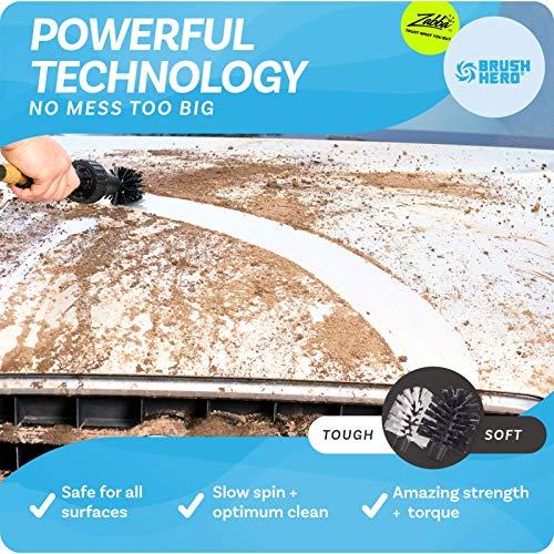 Car Wheel Brush, Premium Automotive Detailer and Tire Brush Cleaning Kit for Bikes, Engines, Trucks,...