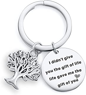 I Didn't give You The Gift of Life,Life gave me The Gift of You Bracelet for Niece Daughter in Law Stepson Keychain