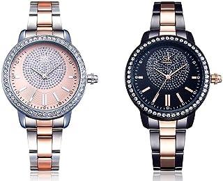 ساعة شانك براند للنساء مرصعة بالكريستال K0075