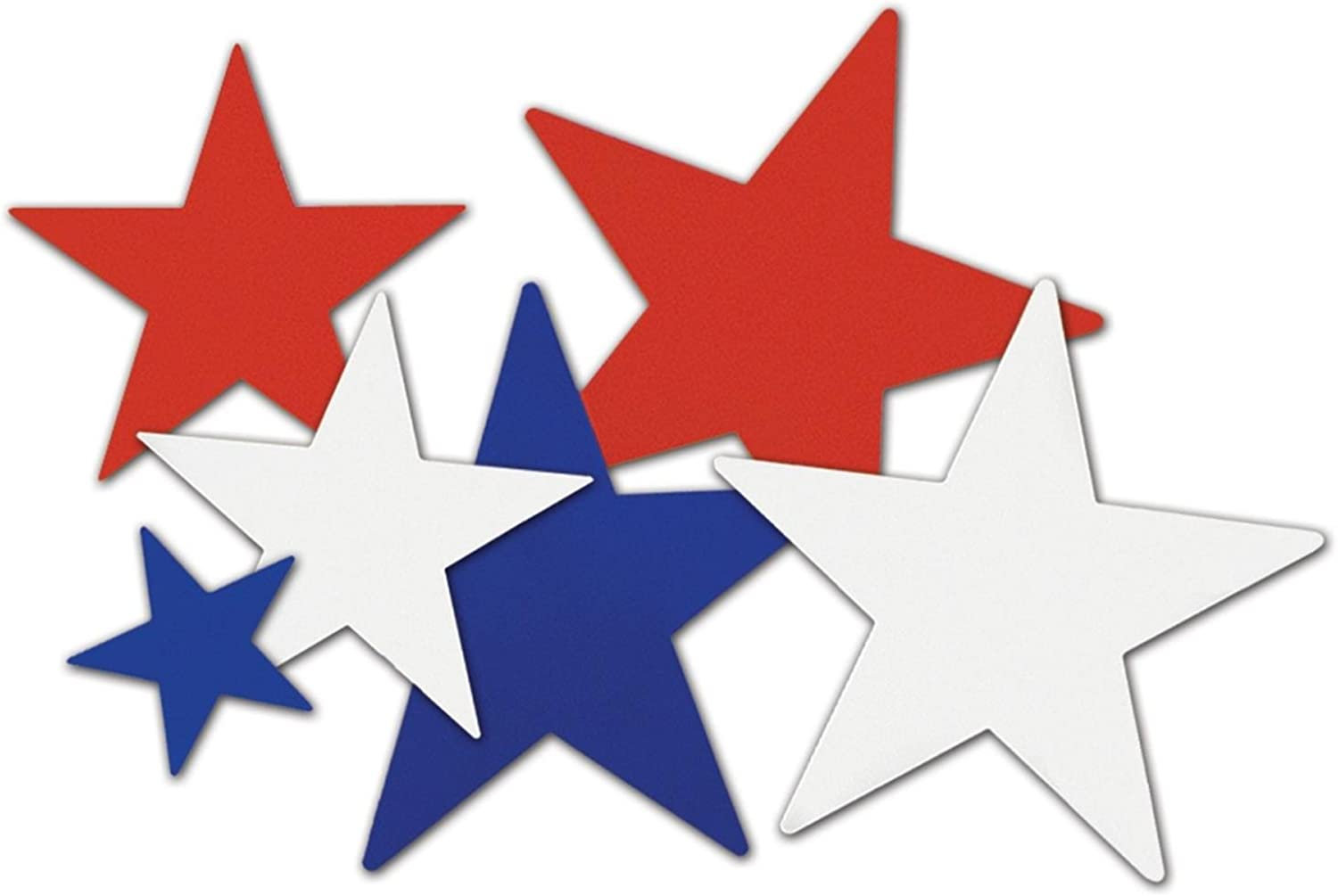 Club Pack of 216 Red, White and bluee Star Cutout Decorations 12