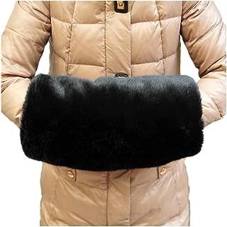 Faux Fur Hand Muffs-Luxurious Faux Rabbit Mittens-Wrist Hand Warmer Gloves