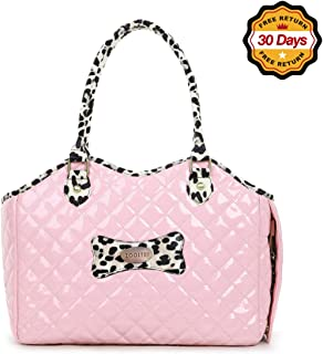 ZOOSTAR Dog Carrier Purse Pet Travel Bag Cat Portable Handbag,Soft Sided Tote with 2 Fleece Pads for Small Pets,Come with a Pet Comb,Up to 15lbs,Go Traveling Hiking Shopping with Your Doggy