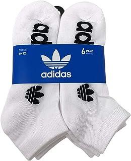 adidas Men's Originals Trefoil 6 Pack Low Cut Socks, (Shoe Size 6-12)
