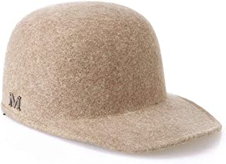 HMJZLywei Hat Autumn and Winter Wool Classic Equestrian hat Fashion Cap Outdoor Warm hat (Color : Camel)