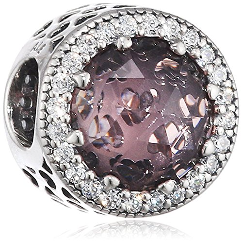 Pandora 791725NBP Radiant Hearts Charm, Blush Pink