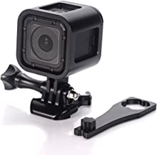 Nechkitter Aluminum Frame Mount for GoPro Hero 5 Session 4 Session Hero Session, CNC Aluminum Alloy Solid Protective Case with Wrench -Black