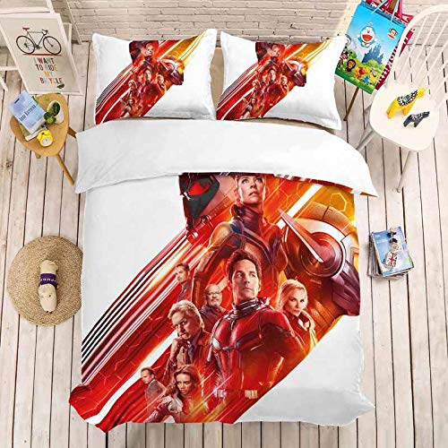 Fadaseo King Toddler Duvet Cover Set 240 X 220 Cm 3D Printing Movie Heroes 3 Pieces Bedding Set. Easy Care And Super Soft Cotton Design.With 2 Pillowcases Hypoallergenic