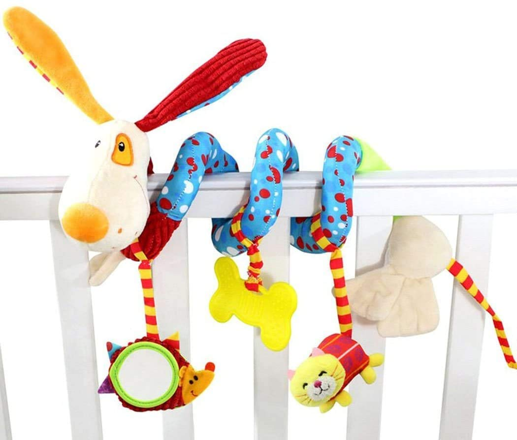 Musical Spiral Activity Toy Stroller Toys for Baby Newborn Toys for Boys and Girls Carseat Toys for Infants with Built-in BB Device & Bell - Baby Crib Toy - Infant Sensory Toys