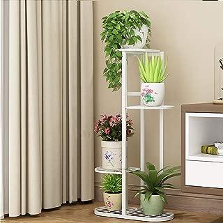 Metal Plant Stand High Low Flower Shelves Planter Rack Storage Organizer Display for Indoor Outdoor Garden Balcony (4-Tier 5 Pots)