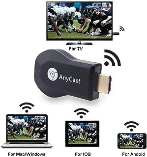 Wireless WIFI Display Dongle - High Speed HDMI Miracast Dongle, 1080P Wecast C2 OTA Miracast DLNA WiFi Display Receiver (Android/iOS/Windows)