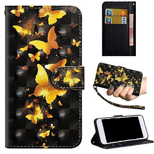 Venga amigos Hülle für ZTE Blade L5,L5 Plus,Schutzhülle Bookstyle Premium PU-Leder Klapptasche Case Brieftasche Handyhülle für ZTE Blade L5,L5 Plus