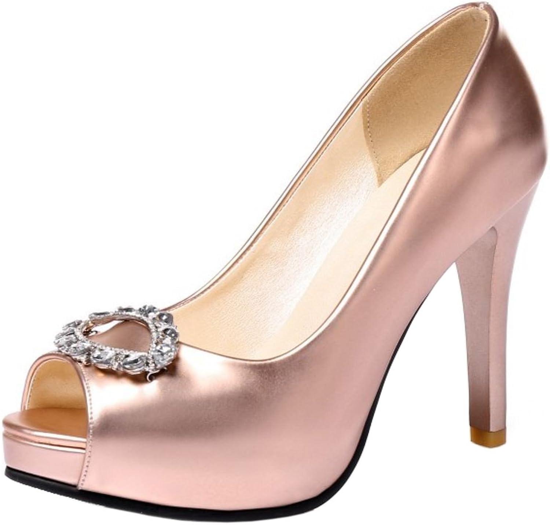 RizaBina Women Fashion Spike Heel Pumps Sandals Peep Toe Wedding Dress shoes