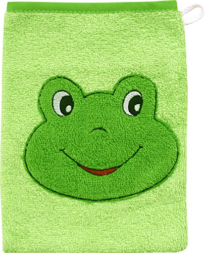 Wörner Gant de toilette gant de toilette bébé, vert grenouille