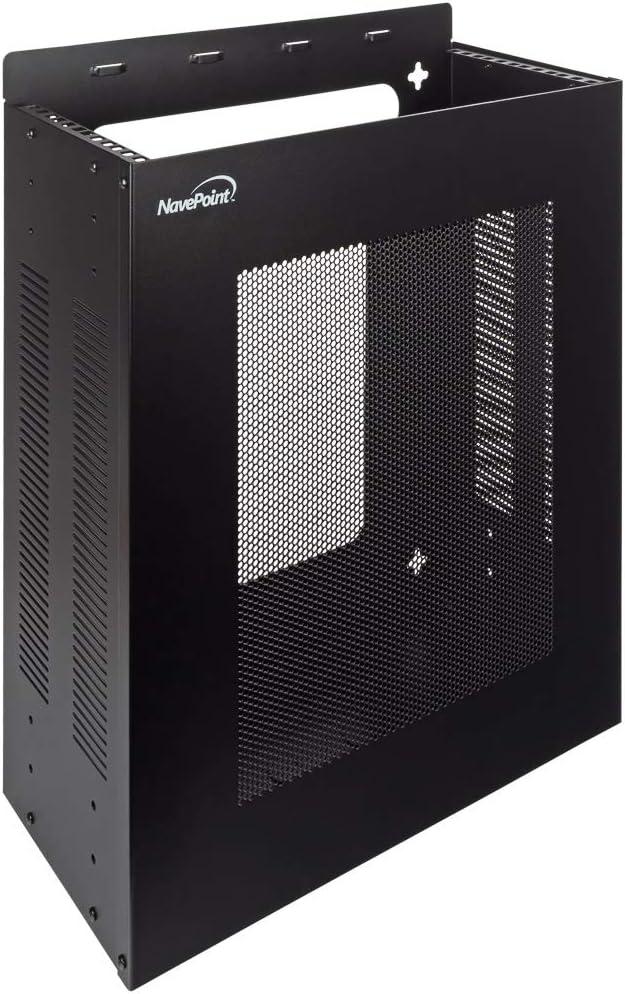 NavePoint 4U Vertical Wall Mountable Server Rack, Black