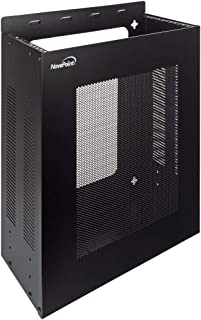 NavePoint 4U Vertical Wall Mountable Server Rack, Black
