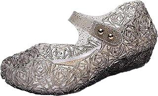 GenialES Sandale Ballerines Bleu pour Enfant Petite Fille Déguisement Princesse Chaussures EU28-EU33