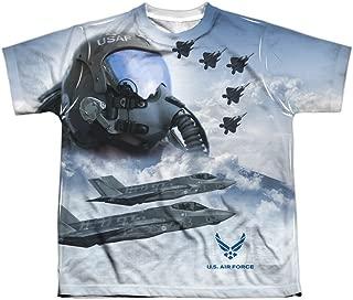 Air Force US Armed Forces USAF Pilots Strike Mode Big Boys Front Print T-Shirt