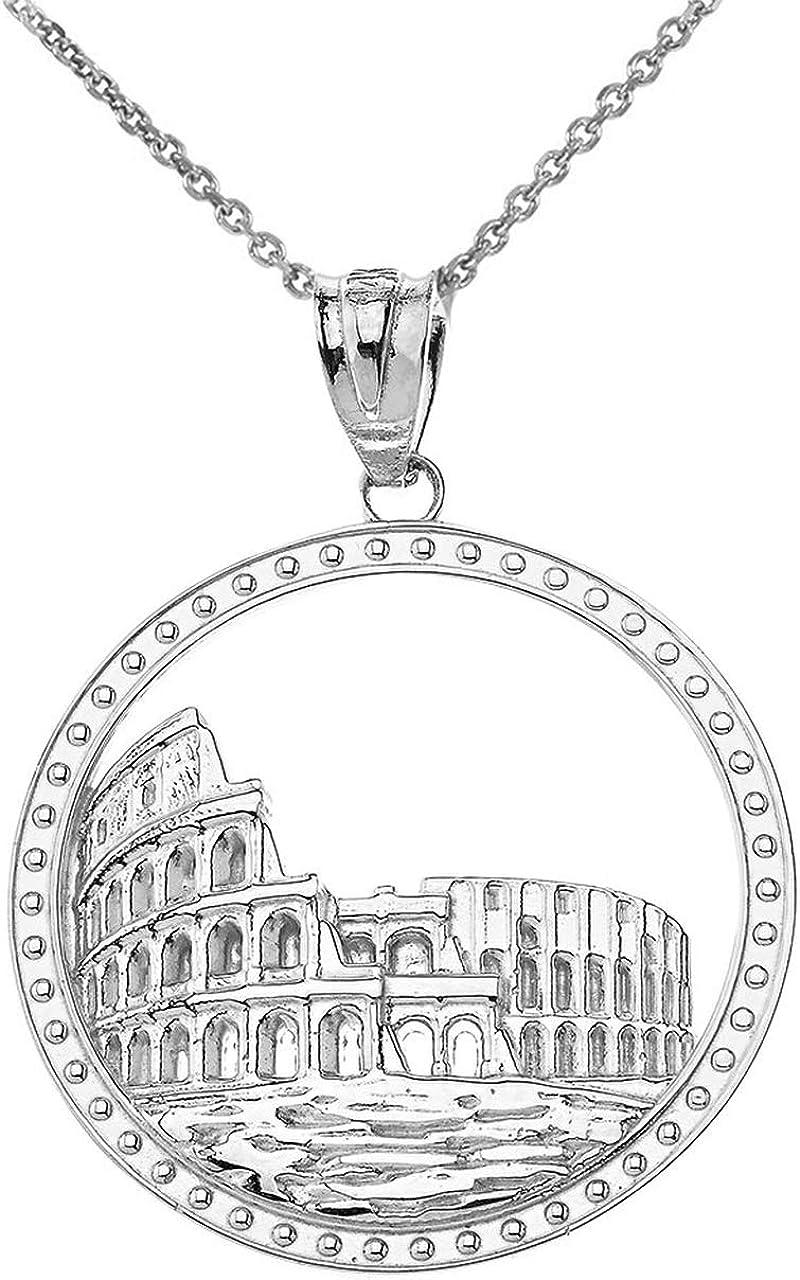 メーカー再生品 初売り Sterling Silver Rome Colosseum Coliseum Italy Roman Italia Penda