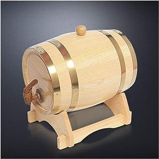 Tonneau à vin en Bois Tonneau de Chêne 5L, Style Vintage Fait Main Bois Tonneau à Whisky Vin Rhum Brandy Port Fûts de vin ...