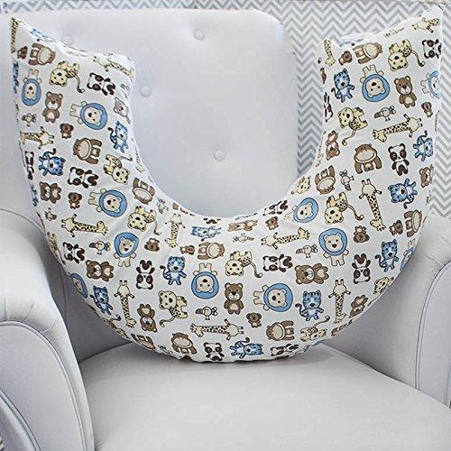 Almofada Amamentação Bichinhos, Laura Baby, Azul Bebê