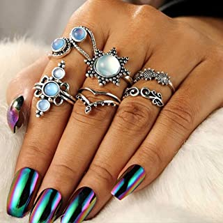 Handcess 24pcs Metallic Mirror Effect Coffin Full Cover Fake Nails Super Holographic 3D Alloy Blue Purple Nails Press On Nails
