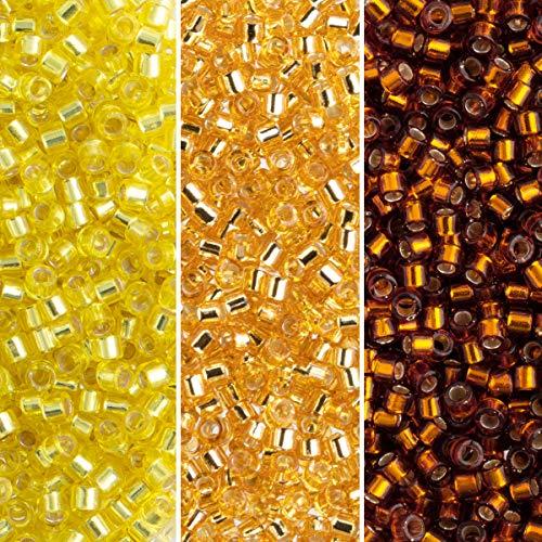 Miyuki Delica Seed Beads Bundle: Size 11/0, Palette Collection DB42, DB144, DB145, 7.2 Grams, 3 Tubes