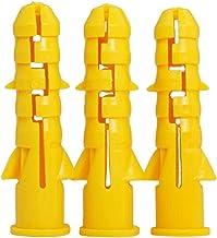 Ankerpunt 200 stks M6 M8 M10 Geel Geribbelde Plastic Anker Muur Plastic Uitbreiding Pijp Pijp Muur Plug Droge Muur Makkeli...