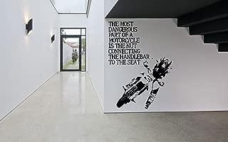 Wall Vinyl Sticker Decal Motocross Quote Sport Just Ride Stamp Dirt Bike Quad ATV Wheelie Mud Runner Quote Off Road SA699