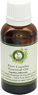 R V Essential ピュアコパイバエッセンシャルオイル15ml (0.507oz)- Copaifera Officinalis (100%純粋&天然スチームDistilled) Pure Copaiba Essential Oil