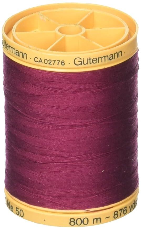 Gutermann 100% Natural Cotton Thread 800M Burgundy