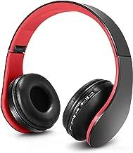 Auriculares Ajustable y Plegable con micrófono-Rojo Negro