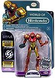 World of Nintendo Metroid Samus Exclusive 4' Action Figure [Metallic Paint]