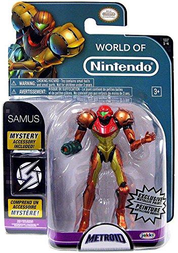 "World of Nintendo Metroid Samus Exclusive 4"" Action Figure [Metallic Paint]"