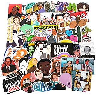 The Office Sticker Pack of 62 Stickers The Office Merchandise Stickers Funny Stickers for Laptops Hydro Flasks Water Bottl...