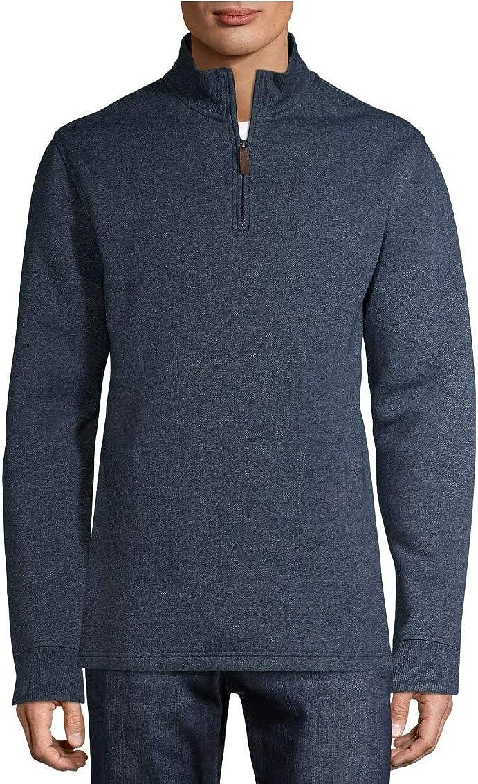 George Clothing Dark Blue Heather Quarter Zip Fleece Pullover