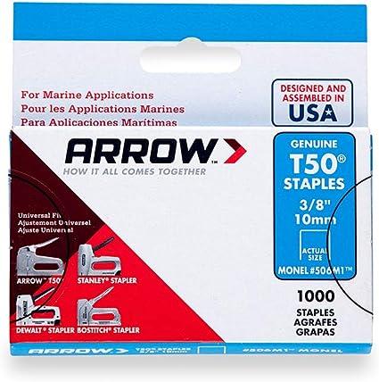 "T50 5081P New Arrow Fastener Heavy Duty Staples 5,000-Pack 1//2/"" x 3//8/"""